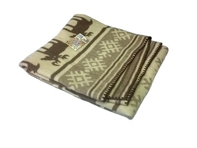 "Одеяло шерстяное тканое ""Олени"" 140х205 - фото 4497"