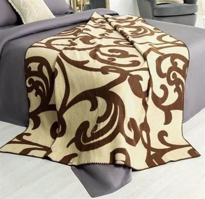 "Одеяло шерстяное тканое  ""Завитки"" - фото 5912"