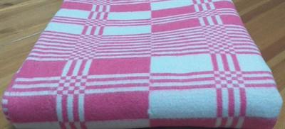 "Одеяло байковое 140х205 ""Клетка"" малиновое - фото 6198"