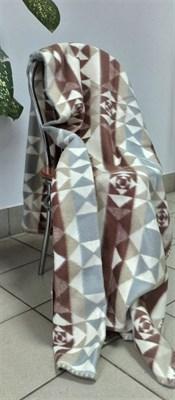 """Одеяло """"Ярослав"""" байковое жаккард. (ромбики сер-кор) - фото 6219"""