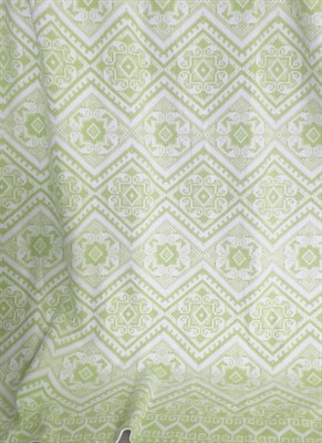 Одеяло байковое жаккард 200х205 Орнамент (салатовое) - фото 6231