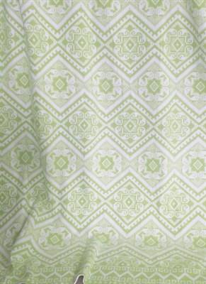 Одеяло байковое жаккард 140х205 Орнамент (салатовое) - фото 6281