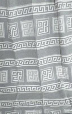 Одеяло-плед хлопковое в канте серое (Греция) - фото 6623