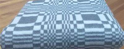 """Одеяло байковое 140х205 """"Клетка"""" серое. - фото 6717"""