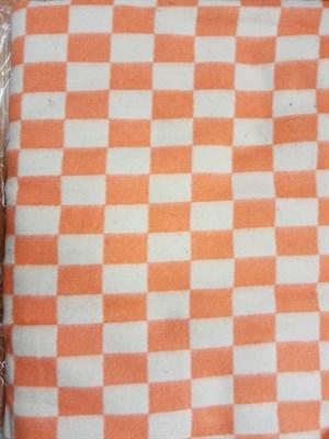 Одеяло байковое клетчатое оранжевое - фото 6797