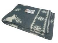 """Одеяло из мериносовой шерсти тканое """"Олени"""""""