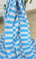 """Одеяло байковое 140 """"Клетка"""" серо-голубое"""
