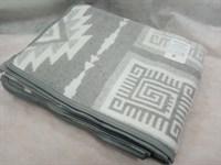 Одеяло-плед хлопковое в канте серое