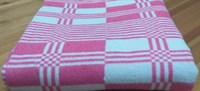 """Одеяло байковое 140х205 """"Клетка"""" малиновое"""