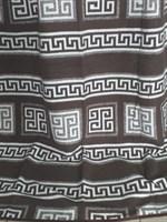 Одеяло-плед хлопковое в канте коричневое