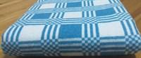 """Одеяло байковое 200х205 """"Клетка"""" синяя"""