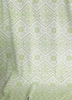 Одеяло байковое жаккард 200х205 Орнамент (салатовое)