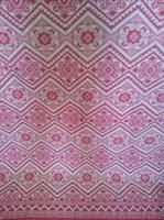 Одеяло байковое жаккард 140х205 Орнамент (малиновое)