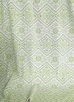 Одеяло байковое жаккард 170х205 Орнамент (салатовое)
