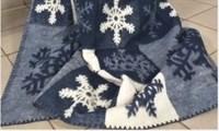 """Одеяло из мериносовой шерсти тканое """"Снежинки."""" Ярослав"""