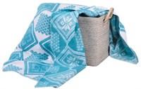 Одеяло байковое жаккард. 140х200 (Нарва)