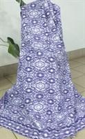 Одеяло байковое жаккард 140х205 Ромашки (сиреневое)