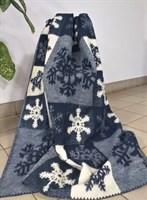 """Одеяло из мериносовой шерсти тканое """"Снежинки"""""""