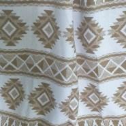 Одеяло-плед хлопковое в канте  (серый зигзаг)