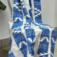 Одеяло байковое (зигзаг синий)