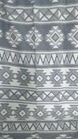 Одеяло-плед хлопковое в канте серое (орнамент)