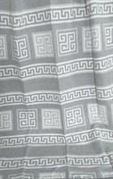 Одеяло-плед хлопковое в канте серое (Греция)