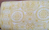 Одеяло байковое жаккард 170х205 жёлтое