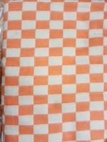 Одеяло байковое клетчатое оранжевое