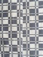 Одеяло байковое клетчатое серое.